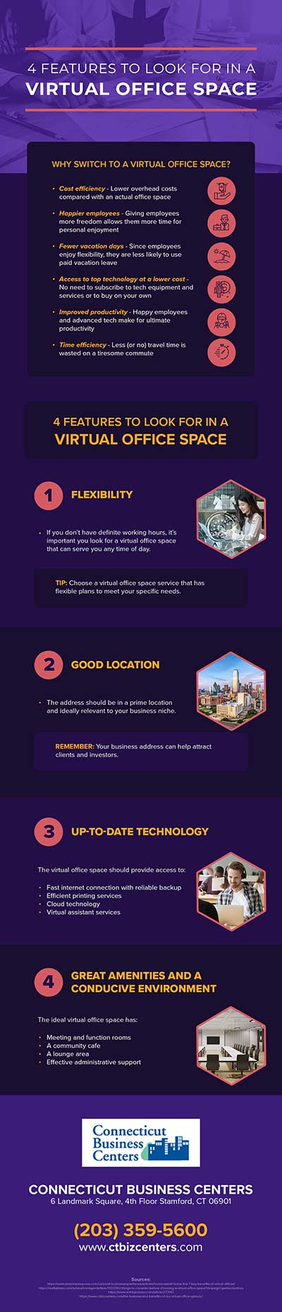 [INFOGRAPHIC] 4 Features to Look for in a Virtual Office Space